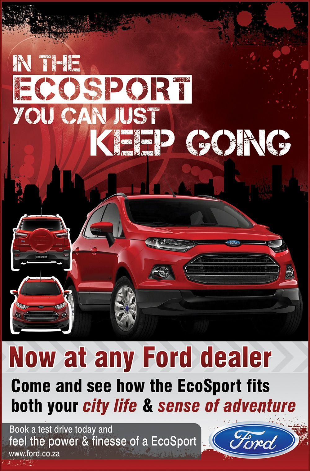 Ford Ecosport Advert Design