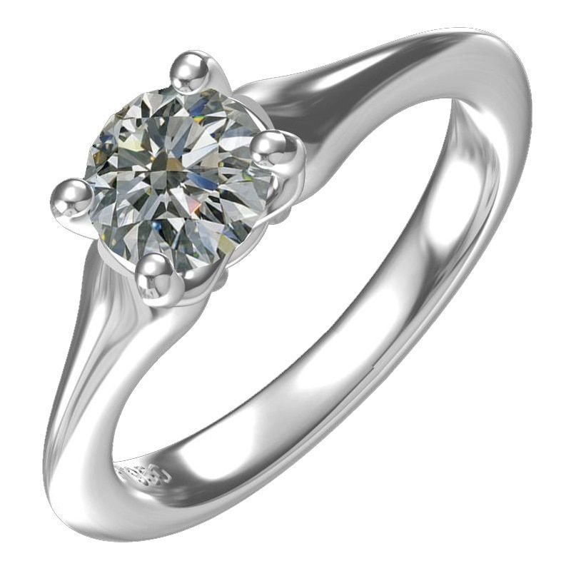 Diamond Sterling Silver 1ct Cubic Zirconia Solitaire Engagement Ring, Women's