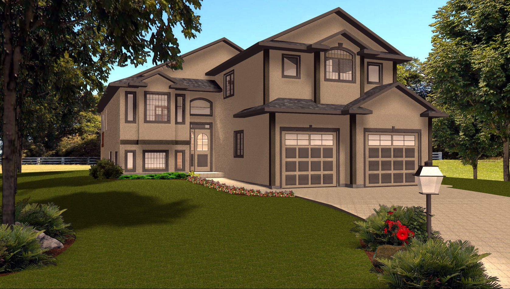 Charming Bi Level House Plans With Attached Garage #4: Bi-Level Garage Additions | Modified Bi Level With 3 Car Garage This Home  Is Shown With Clean Roof ... | Soiree Flowers | Pinterest | Car Garage,  Split ...