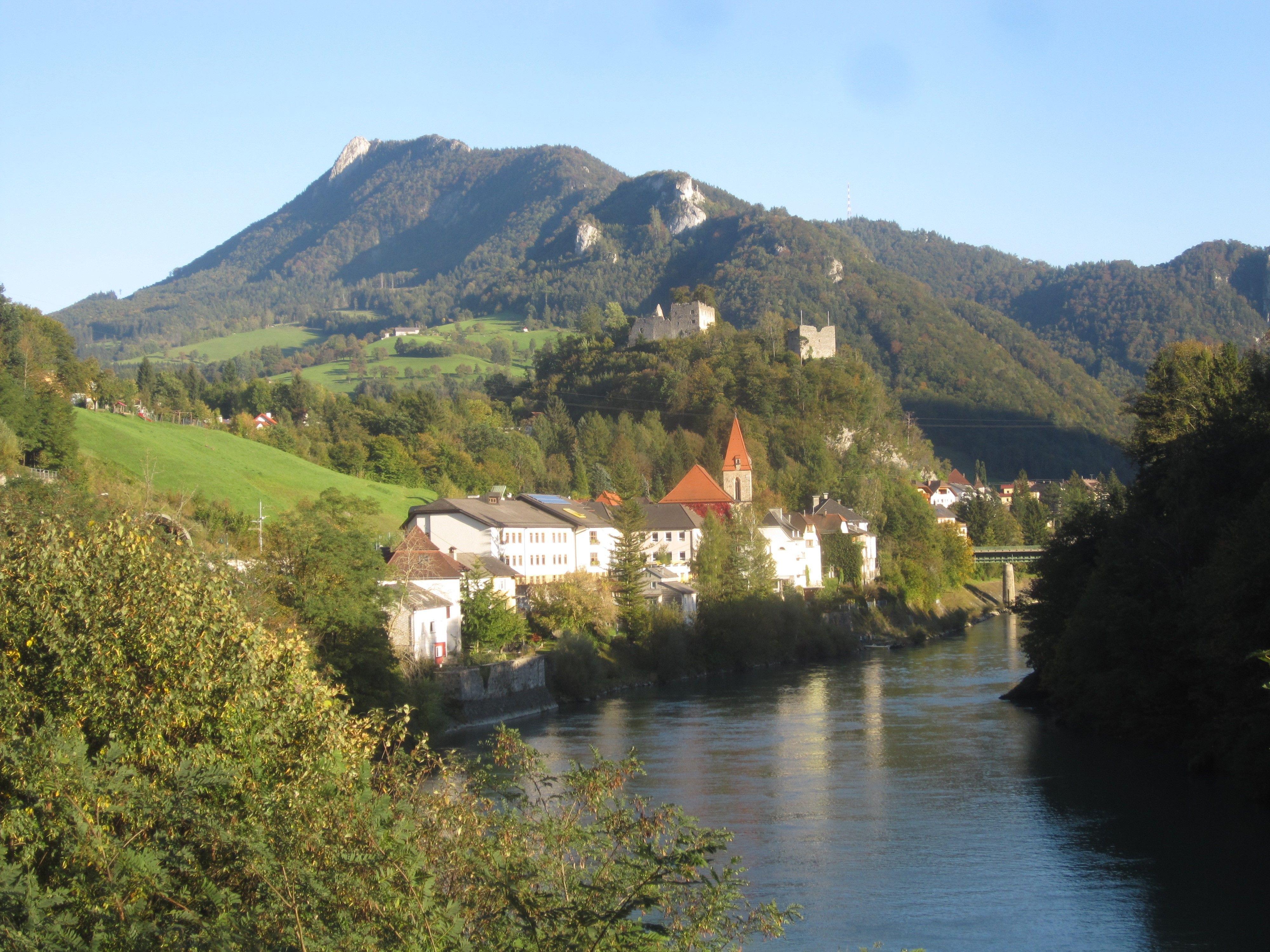 Village Of Losenstein Near Steyr On The Enns River In Austria