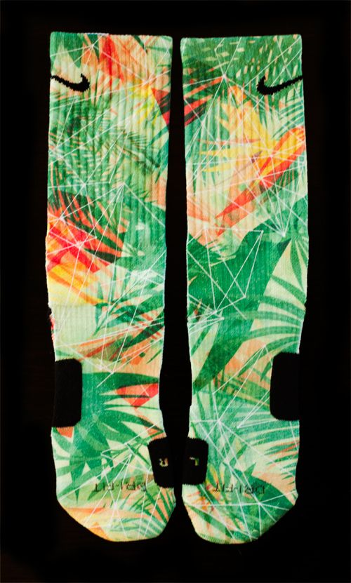 lebron 11 quotkings pridequot custom nike elite socks