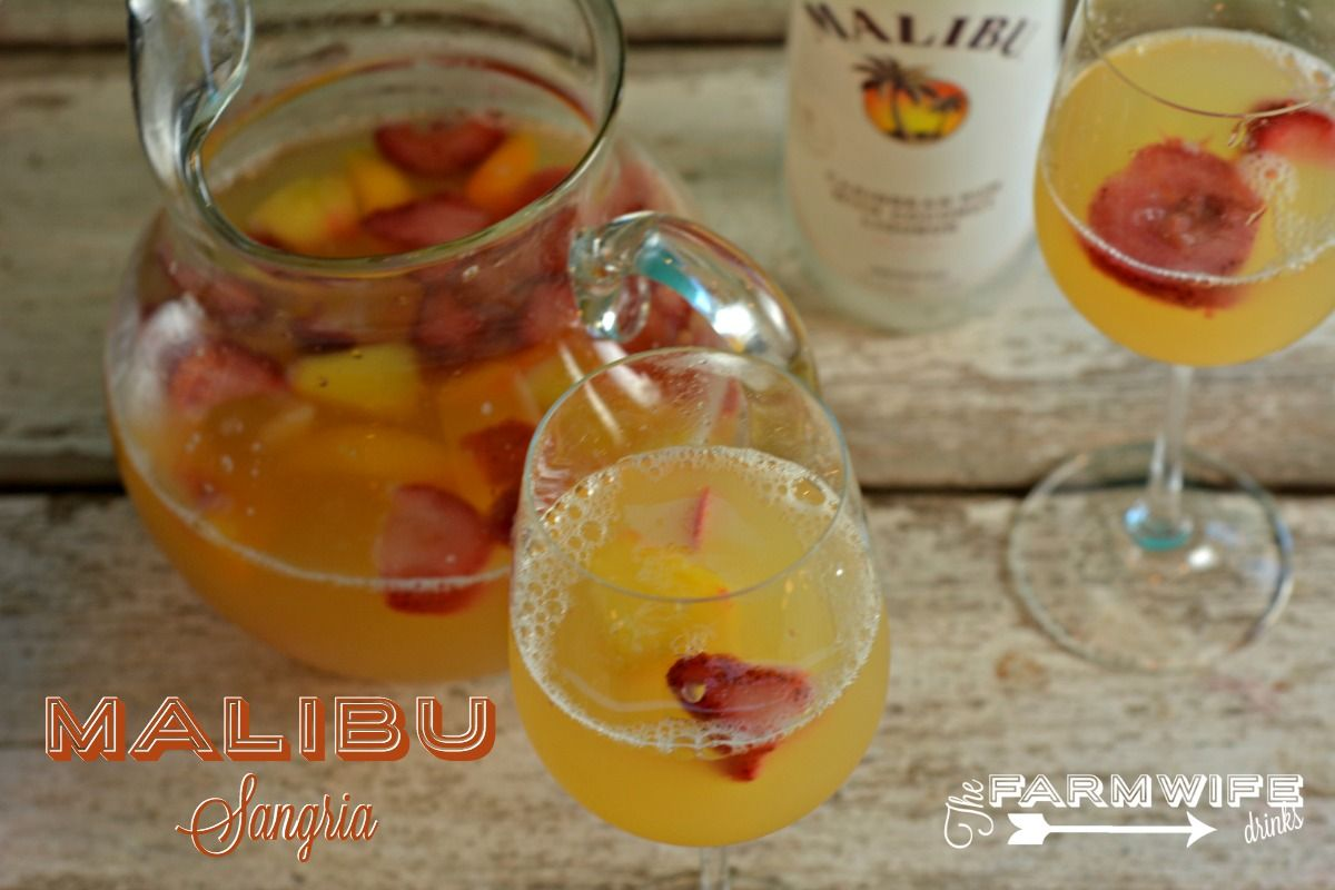 This Malibu sangria recipe is simple and perfect for a summer day ...