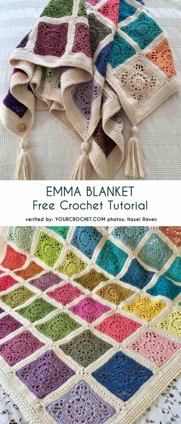 Emma Blanket Free Crochet Pattern