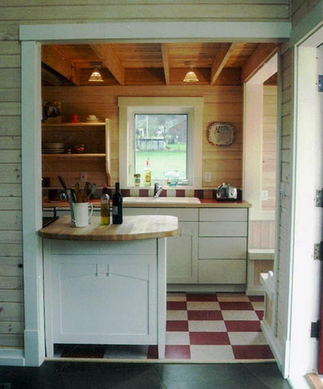 Checkered Kitchen Floor: Ross Chapin Architects - Kitchen Finish Details