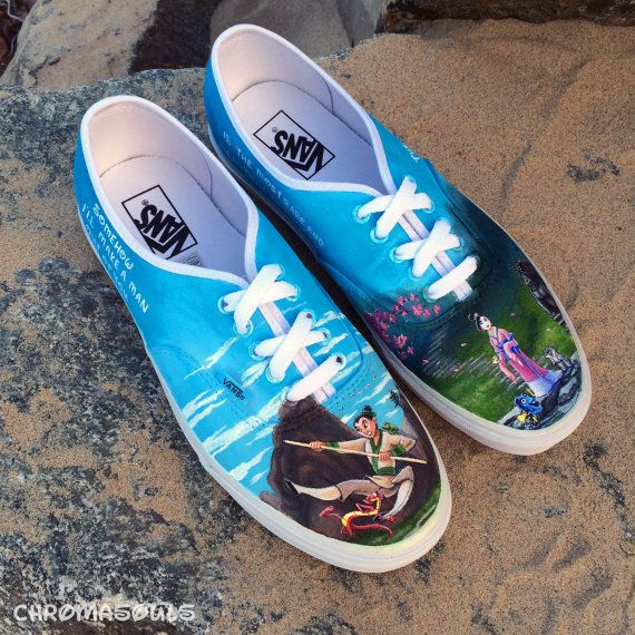 faea2dec0e9f Disney Mulan Shoes by ChromaSouls on Etsy
