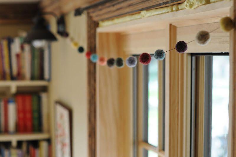 homemade felt balls garland | Felt wreath, Wreaths and garlands, Felt ball garland
