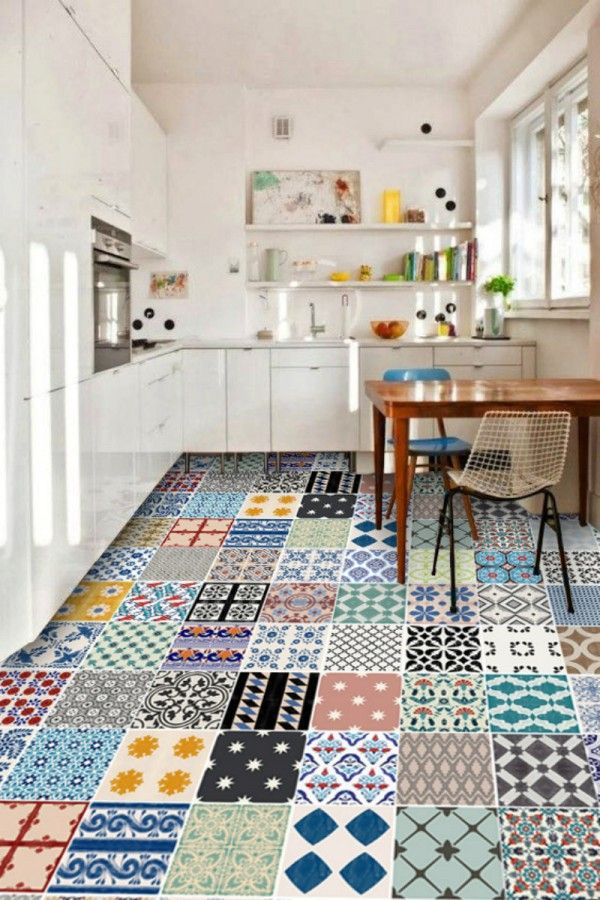 Le Carrelage Adhesif Carreaux De Ciment Un Relooking Facile