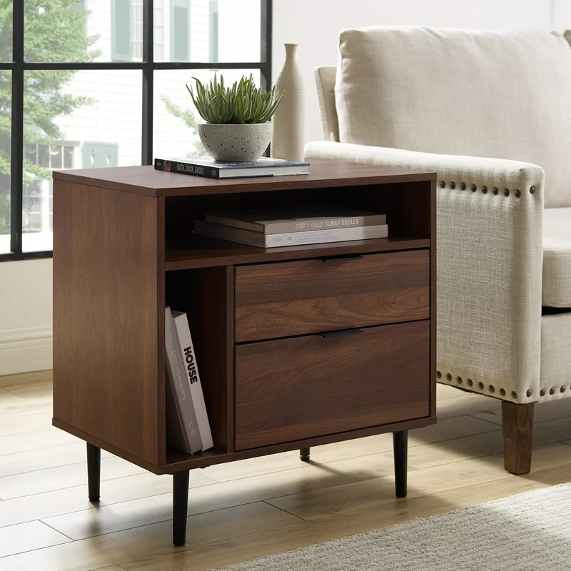 Pillar End Table With Storage In 2020 End Tables With Storage