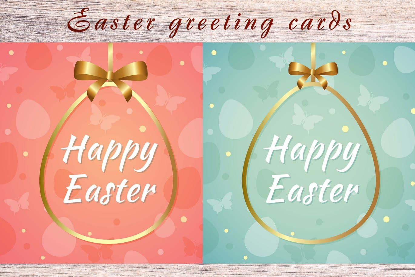 Easter Greeting Cards Template Eps Unlimiteddownloads  Card