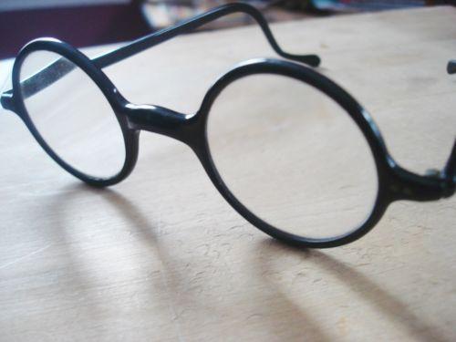 vintage antique 20s round eyeglasses black plastic eyeglass frames harold lloyd - Ebay Eyeglasses Frames