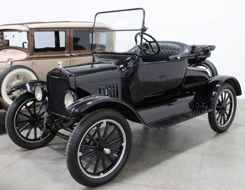 This is a 1920 Ford Model T Runabout. This was the first car made ...