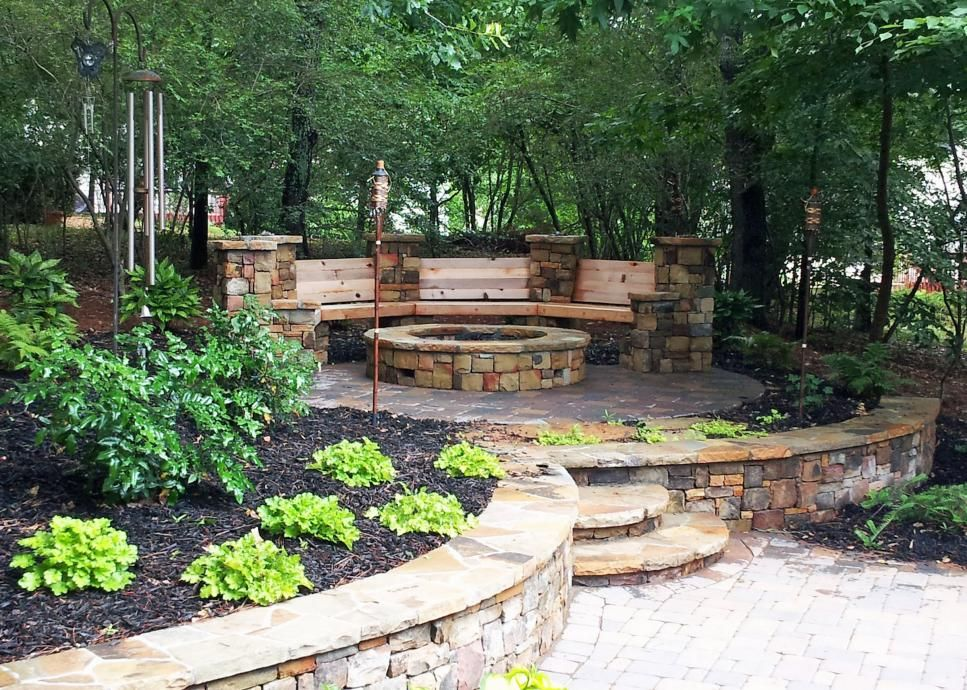 15 Sensational Stone Fire Pits Fire Pit Landscaping Backyard Seating Area Garden Fire Pit
