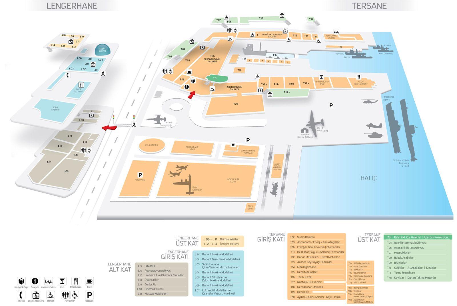 Rahmi M. Koç Müzesi - Müze Planı
