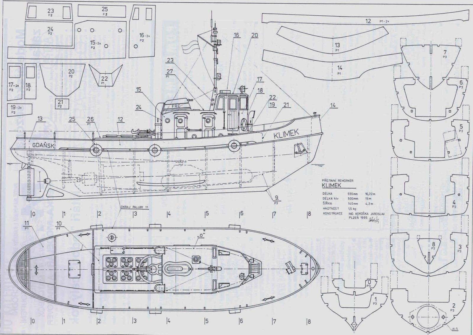 Grand Banks Motor Yacht Model Plan Plans T