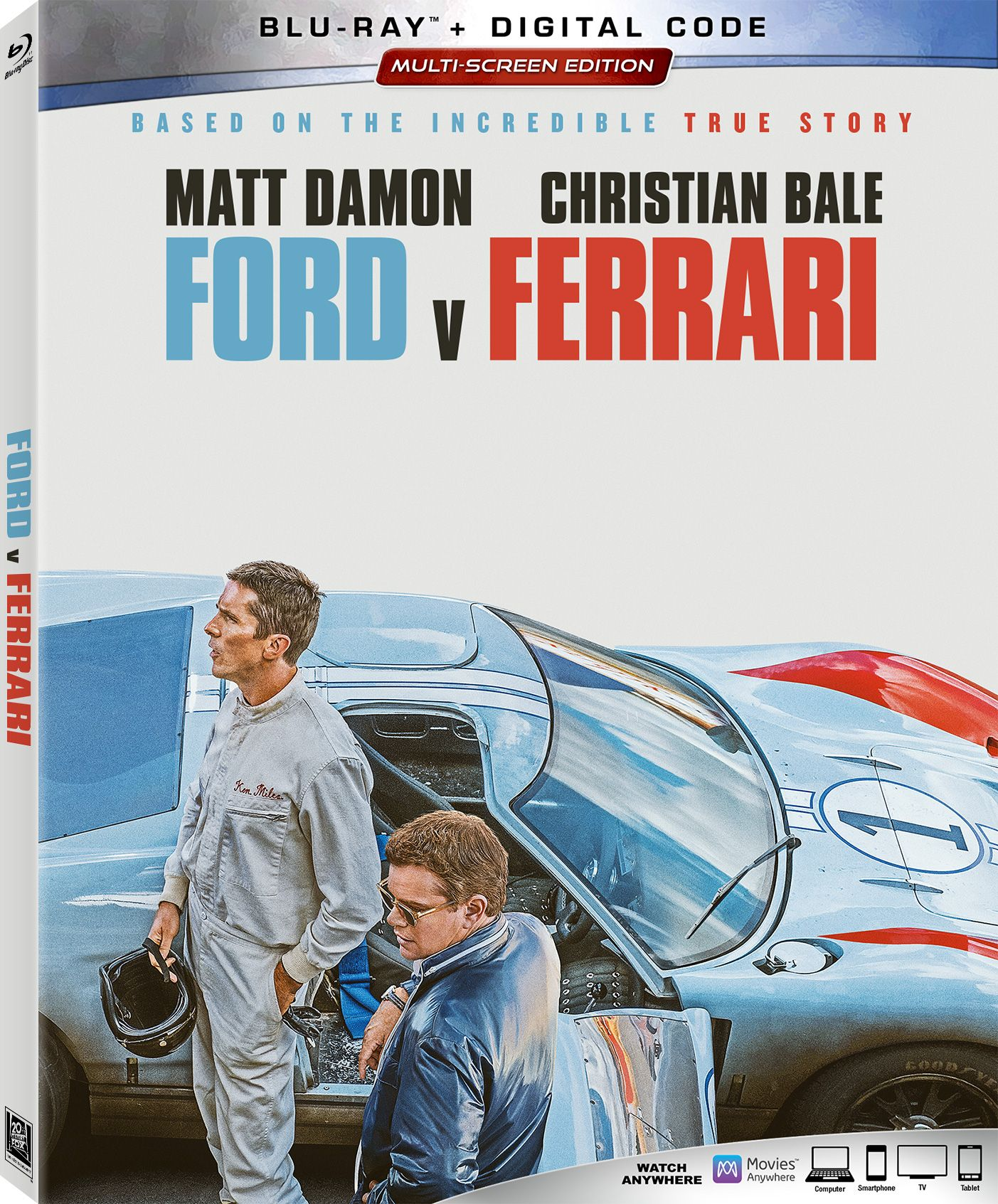 Ford V Ferrari On Blu Ray And Dvd In 2020 Ferrari Blu Ray Blu