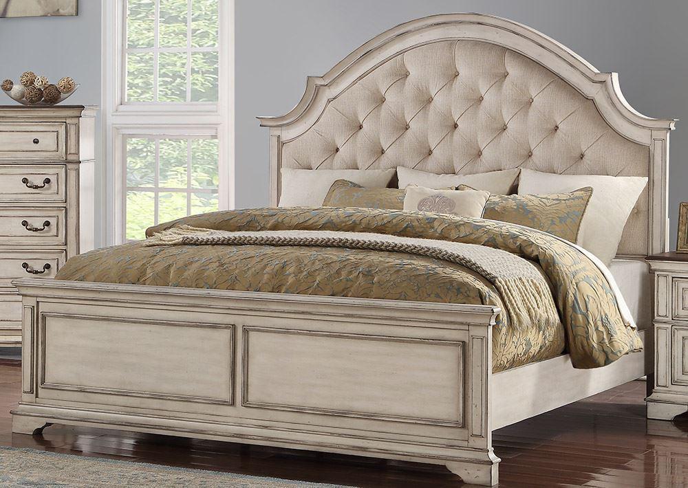 Best Anastasia Antique White Queen Bed Set In 2020 White 640 x 480