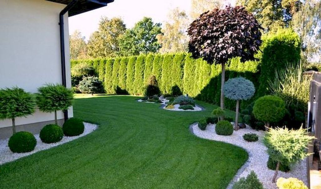 60 Beautiful Front Yards And Backyard Evergreen Garden Design