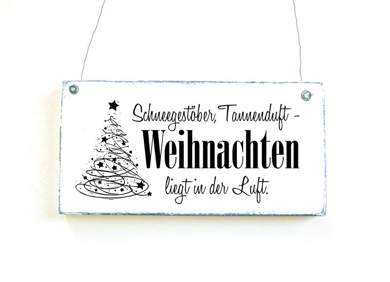 t rschild weihnachtsspruch dekoschild holzschild. Black Bedroom Furniture Sets. Home Design Ideas