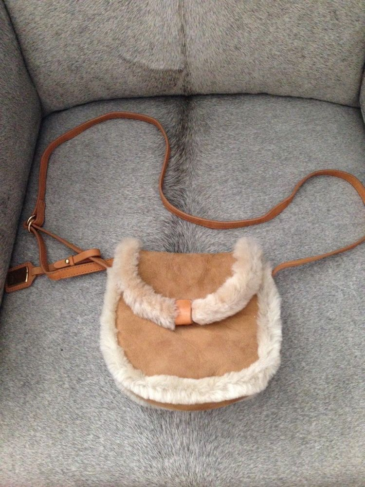 UGG Australia Shearling Mini Crossbody Chestnut Women's Purse NEW!!! #UGGAustralia #MessengerCrossBody