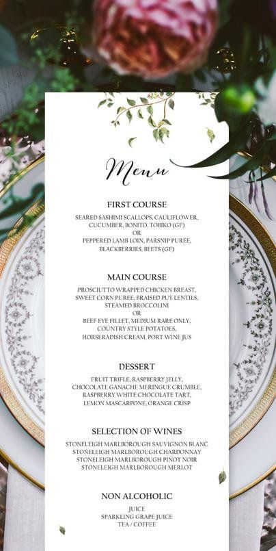 Wedding Menu Wedding Bar Menu Menu Template Menu Menu Board Wedding - bar menu template