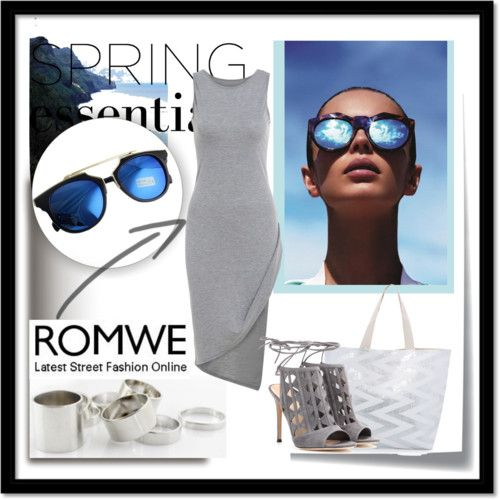 Romwe 2 (IV) by lejlamoranjkic on Polyvore featuring polyvore fashion style Gianvito Rossi Ashley Stewart Le Specs Post-It