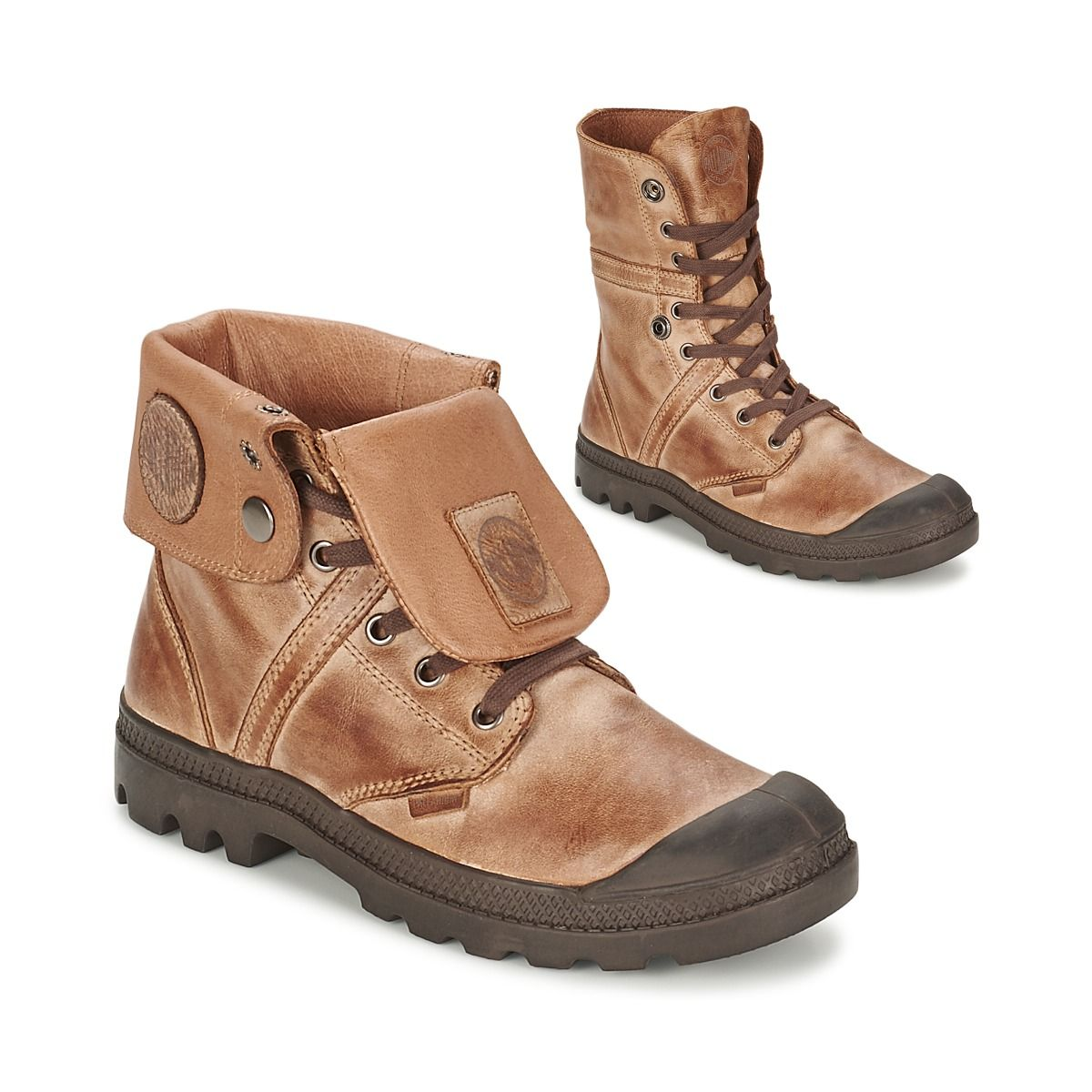 4b4c7f286ec Boots Palladium BAGGY PALLAB Marron prix promo Boots Femme Spartoo 129.95 €  TTC