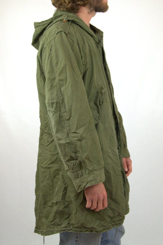 Vintage Korean War M51 Fishtail Parka M-1951 Korean War Era US Army Mod  parka This jacket is in good vintage condition. Only issue to note is on of  the snap ... 51151965697