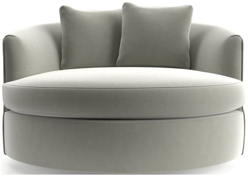 Tillie grande swivel chair reviews crate and barrel in