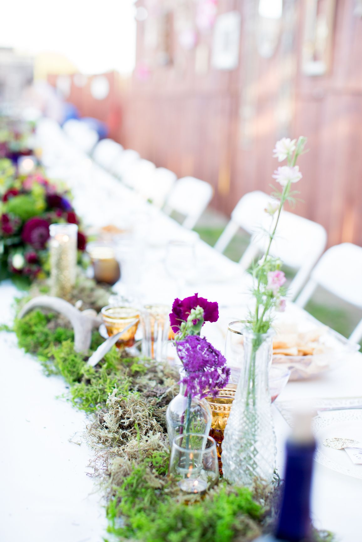 Head table- #wedding #outdoors #elegant #woodsy #whimsical #forest ...