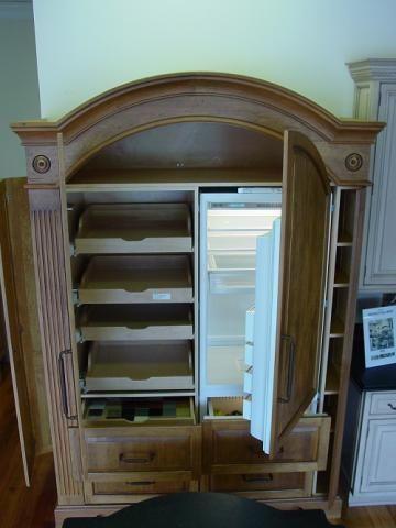 KITCHEN U2013 Refrigerator / Pantry Armoire | YesterTec Kitchen Design Company