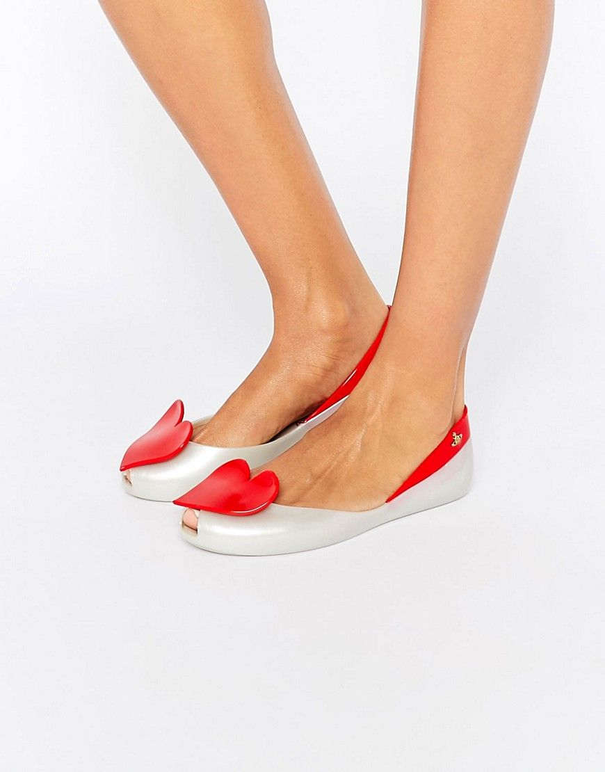 Image 1 of Vivienne Westwood for Melissa Queen Heart Flat Shoes