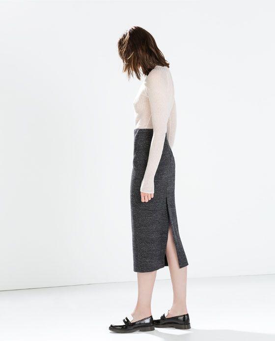 cozy fresh reasonably priced 60% discount Image 1 of KNIT MIDI PENCIL SKIRT from Zara | Fashion ...