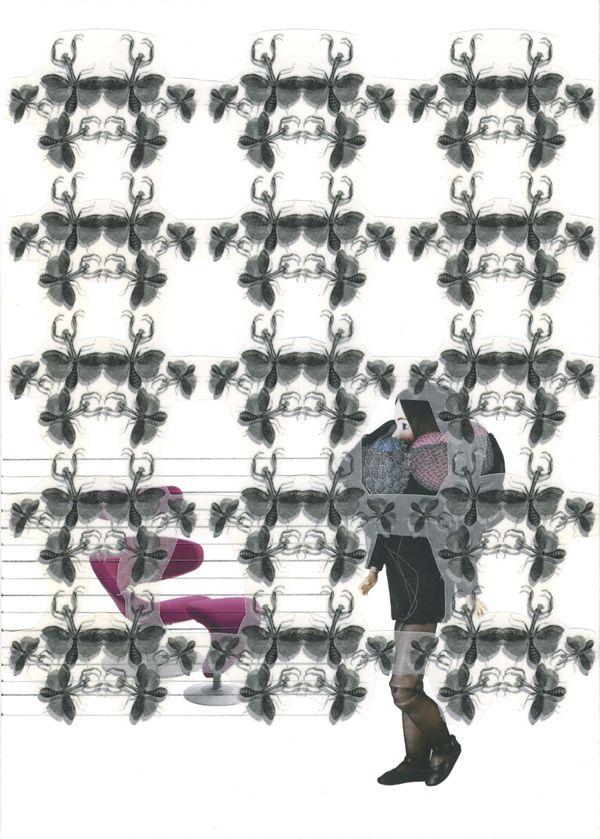 Racconto di S_secondo, 2011, collage, Claudia Scarsella
