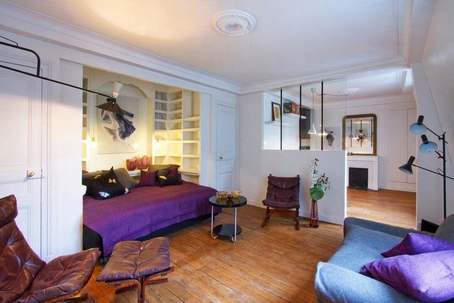 Elegant Studio Apartment | Paris Studio Apartment Merges Classic Contemporary With  Minimalism .