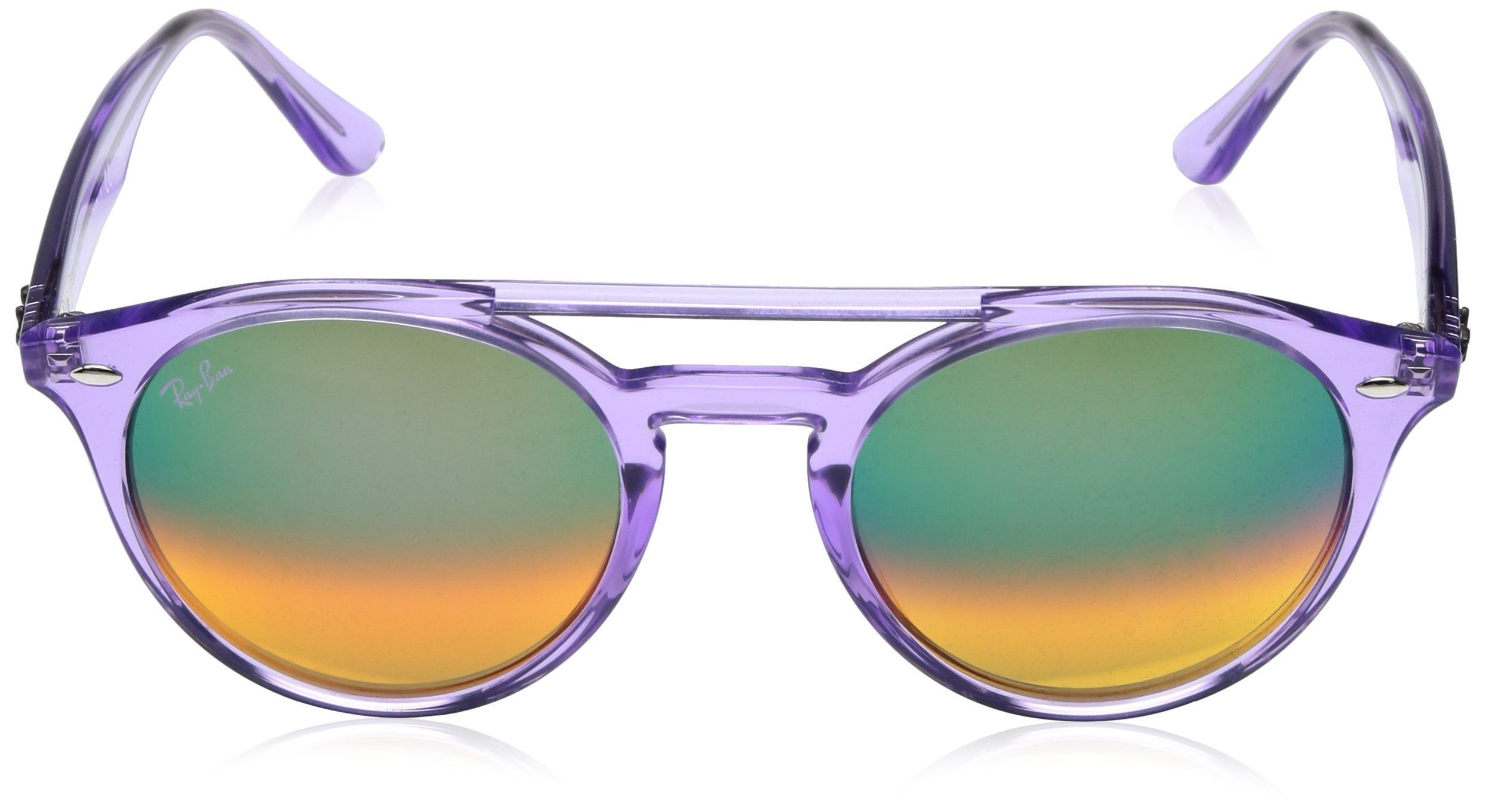 9f93e8a0f1207 RayBan Injected Unisex NonPolarized Iridium Round Sunglasses Violet 51 mm      Read more at