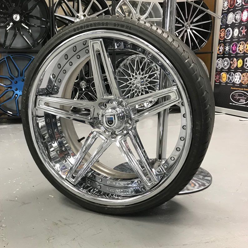 "22"" Asanti Split 5 Star Concave Wheels Staggered 22x9 And"
