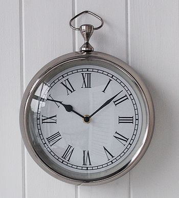Close View Of The Chrome Wall Clock Chrome Wall Clock Small