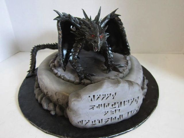 Skyrim Alduin cake Food Pinterest Skyrim Cake and Dragon cakes