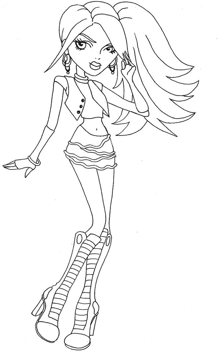 hairs style spectra vondergeist coloring page