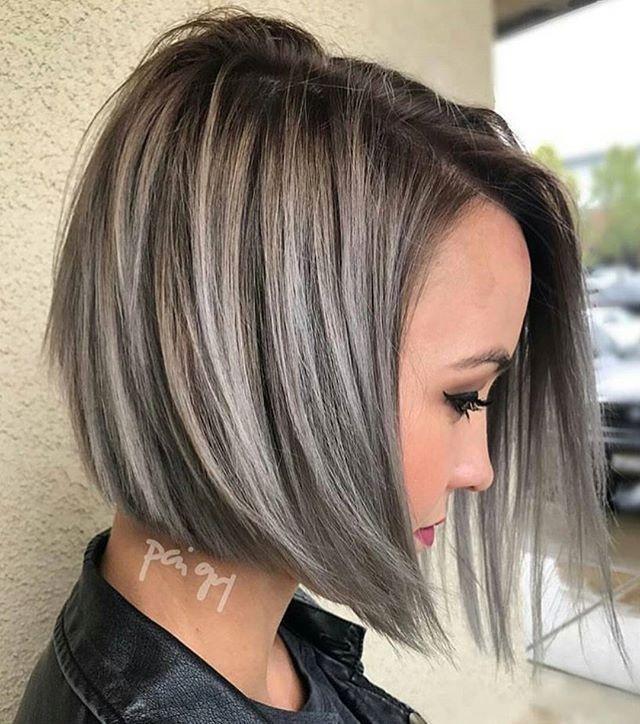 Luxus Silber Und Schwarz Frisuren Neue Haare Modelle Graue Balayage Kurzhaarfrisuren Haarschnitt
