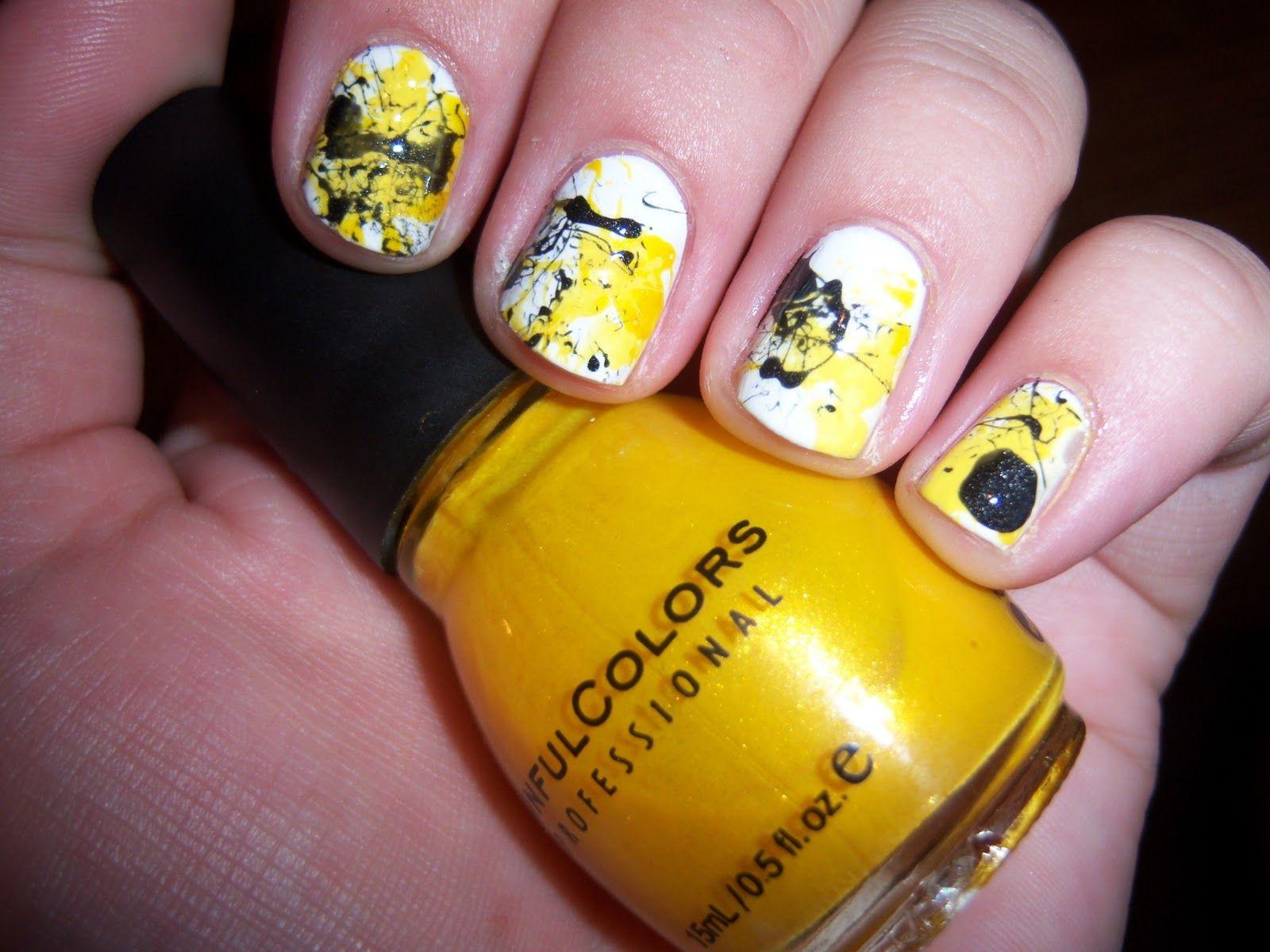 iowa hawkeyes splatter paint nails <3   Style.   Pinterest ...