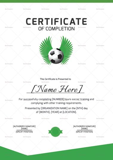 Physical Fitness Recognition Certificate Template  Formats
