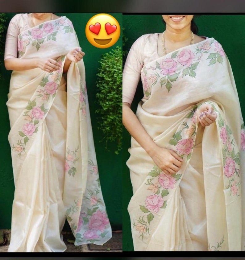 Bollywood Style Designer Organza Silk Saree Party Wear Digital Printed Organza Silk Saree Exclusive Saree With Exclusive BLOUSE