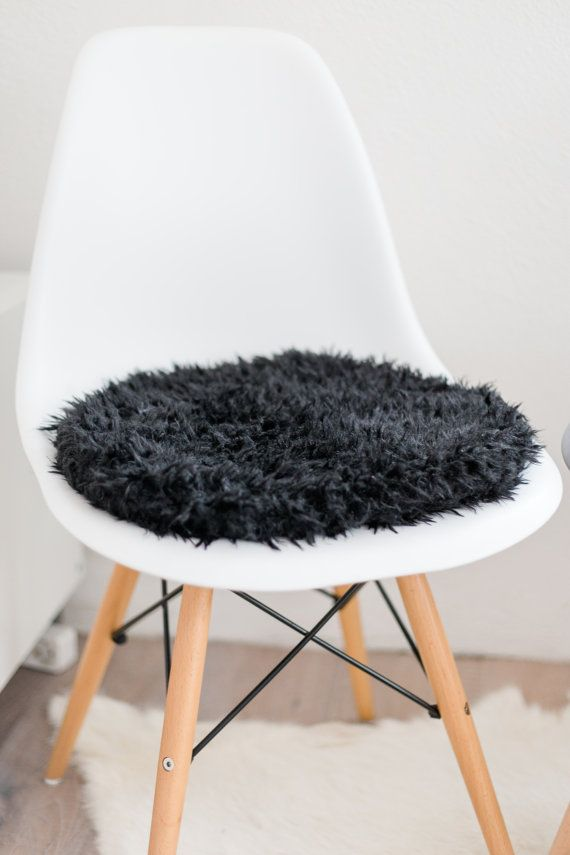 seat cushion for eames chair in black von pomponettiinterior - Eames Chair Sitzkissen