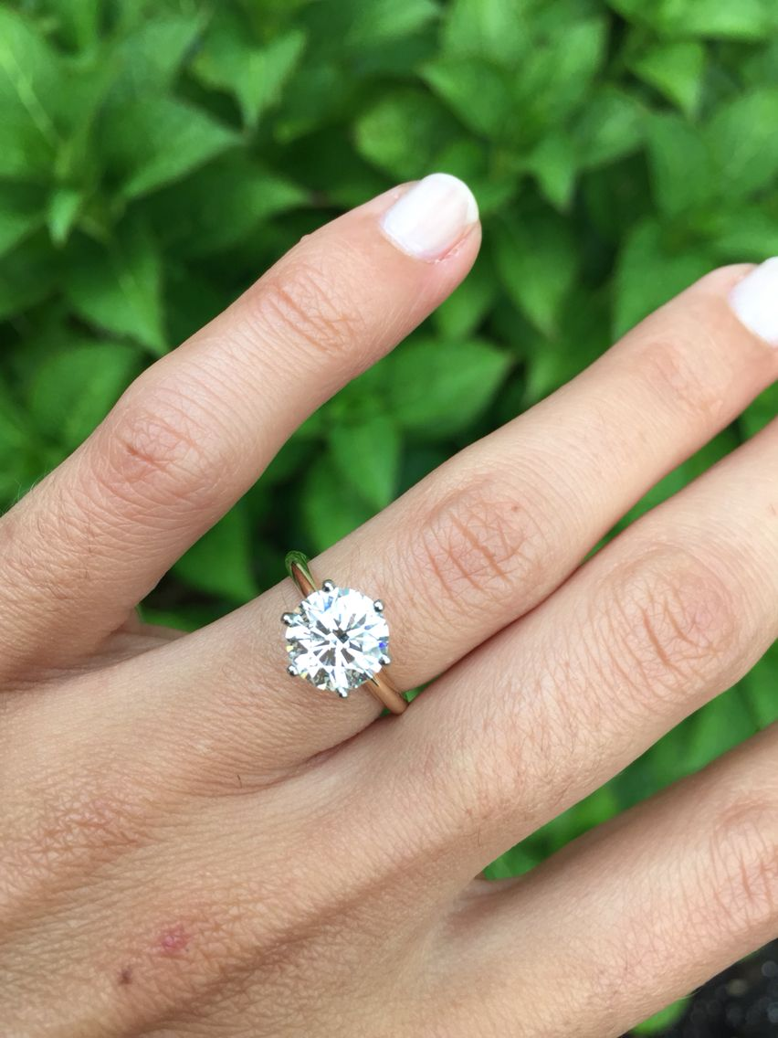 My Engagement Ring! Round Brilliant Solitaire 14k Yellow Gold, 6 Prong,  Soft Knife