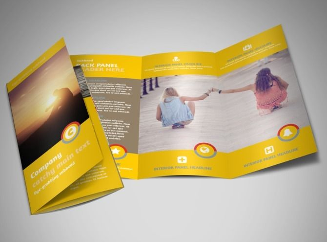 Church Ministry  Youth Group Tri Fold Brochure Template  Church
