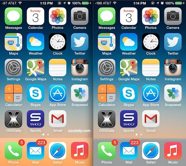 Dock Color Changed With Ios 7 Showing Difference How To Change Doc Color Ios 7 Dock Iphone Dock Change wallpaper iphone 7