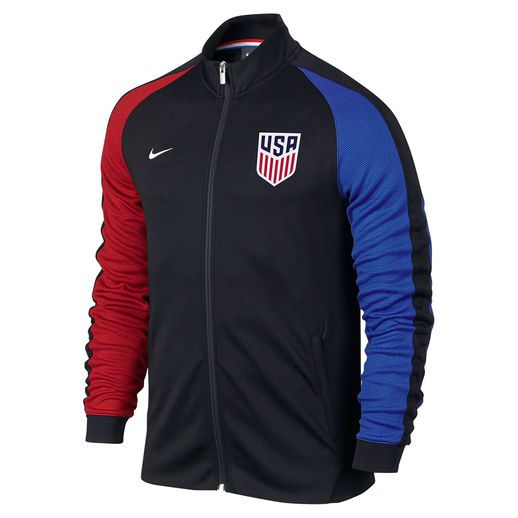 Enfriarse multa Fuerza motriz  Nike Team USA Soccer Black Authentic N98 Full-Zip Track Jacket | Team usa  apparel, Usa soccer, Soccer shirts