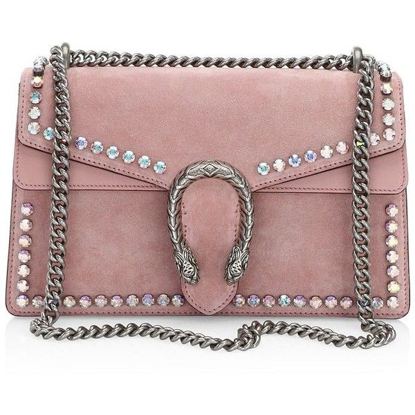 d994701c17f2 Gucci Small Dionysus Crystal-Embellished Suede Chain Shoulder Bag ...