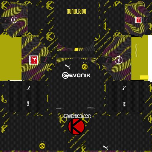 Borussia Dortmund 2019 2020 Kits Dream League Soccer Goalkeeper Kits Borussia Dortmund Football Kits